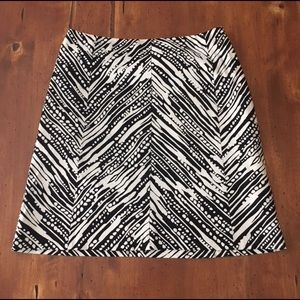 The Limited Ivory & Black Abstract Print Skirt